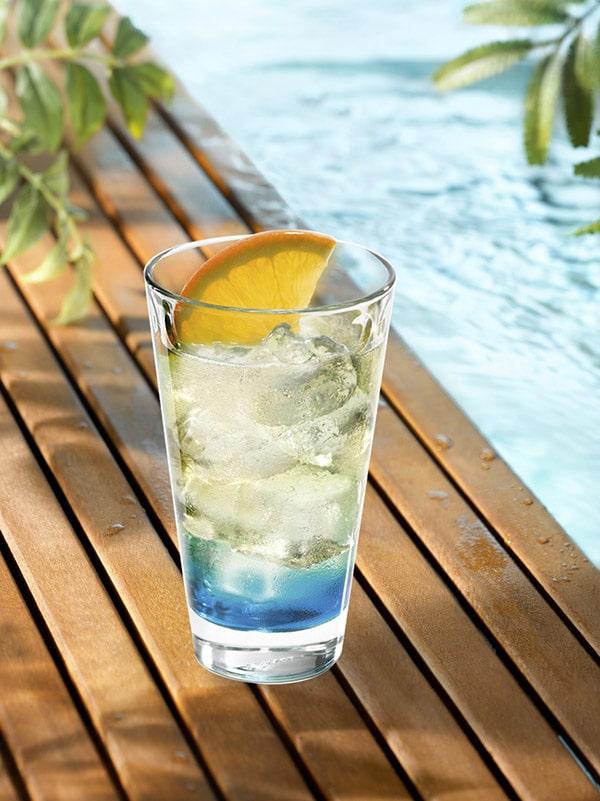cocktail iroquoi degradé de couleur et orange en décoration