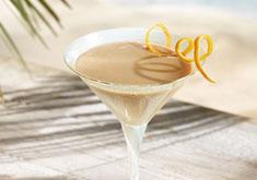 cocktail au rhum et crème de cacao