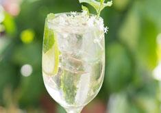 cocktail hugo à base de prosecco et fleur de sureau