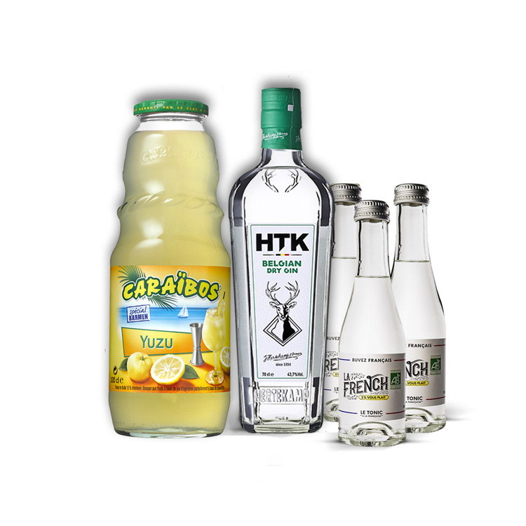 Pack cocktail gin tonic yuzu