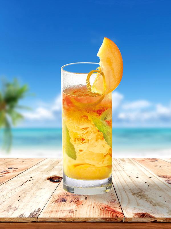 cocktail-mojito-pêche-paille